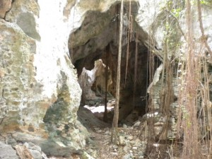 Small passage to next cavern.